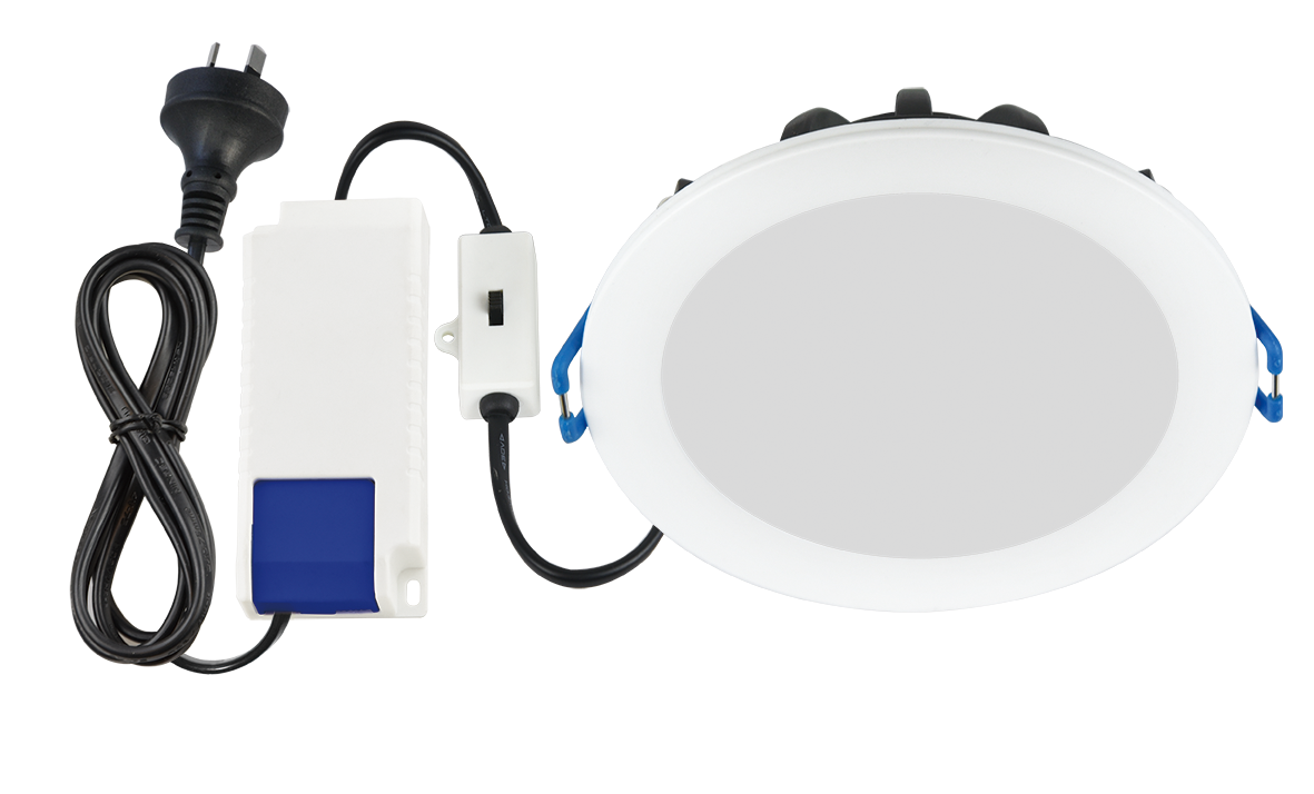Clasp Downlight (Flush & Recessed, Tri-colour, Metal, White)