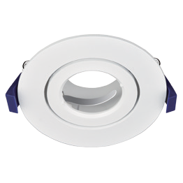 Emilite Holder Fixed & Gimbal Holder for Emilite Downlight Module (White/Satin Chrome)